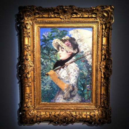 Edouard Manet, Le Printemps (1881), via Art Observed