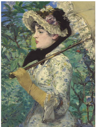 Edouard Manet, Le Printemps (1881), via Christies