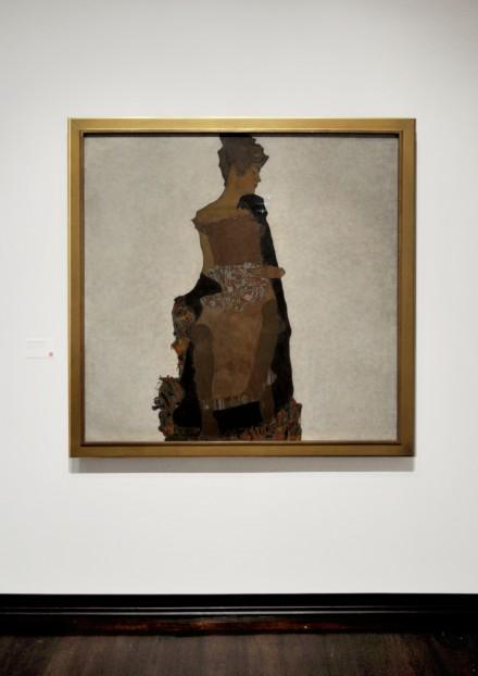 Egon Schiele, Portrait of Gertie Schiele (1909)