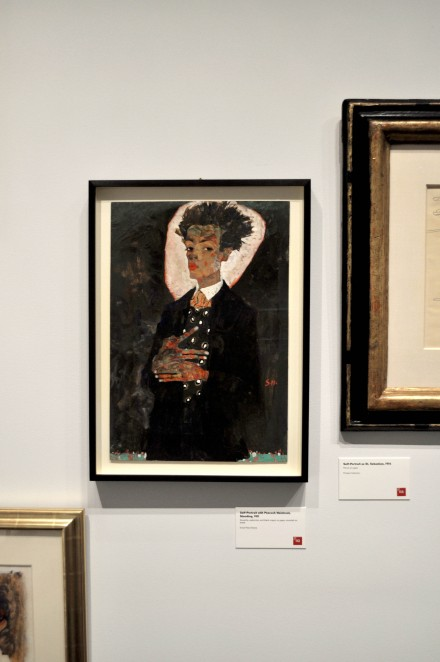 Egon Schiele, Self-Portrait  with Peacock Waistcoat, Standing (1911)