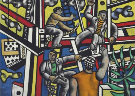 Fernand Léger, Les constructeurs avec arbre (1949), via Christies