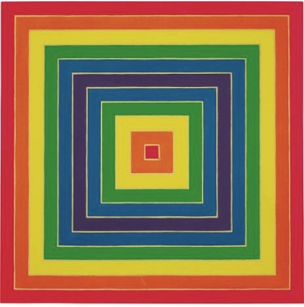 Frank Stella, Concentric Square (1966), via Phillips