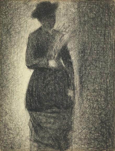 Georges Seurat, Femme Tenant Un Bouquet (1882), via Sotheby's