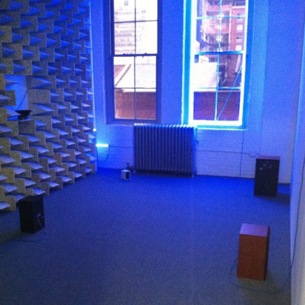 Haroon Mirza at Lisson, via Art Observed