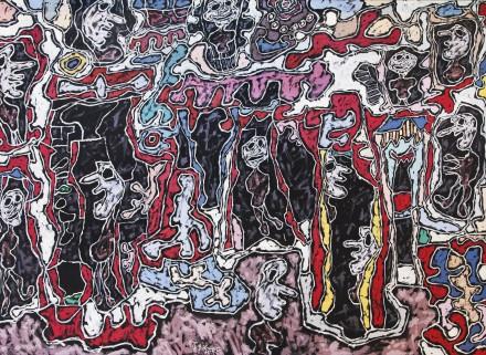Jean Dubuffet, Cité Fantoche (1963), via Sotheby's