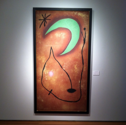 Joan Miro, Peinture (1953), via Art Observed