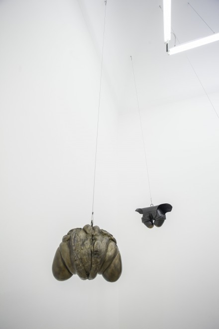 Louise Bourgeois, from left to right: Janus Fleuri (1968) and Hanging Janus with Jacket (1968)
