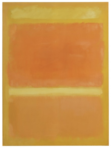 Mark Rothko, Untitled (Yellow, Orange, Yellow, Light Orange), (1955), via Sotheby's