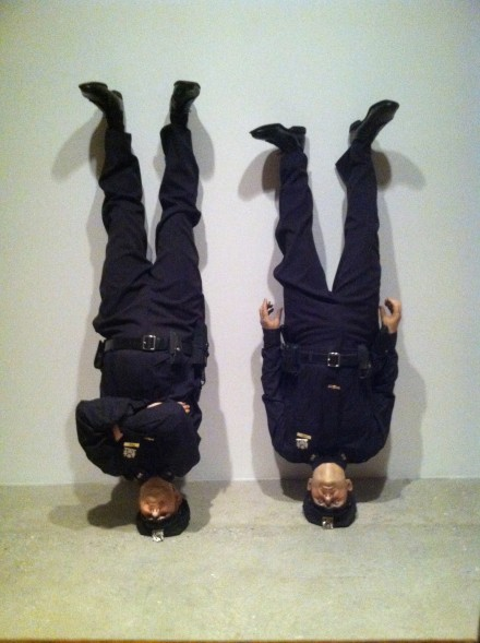 Maurizio Cattelan, Frank and Jamie (2002), via Art Observed