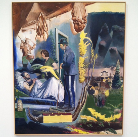 Neo Rauch, Hüter der Nacht  (2014), via Art Observed