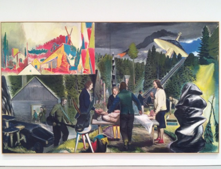 Neo Rauch, Heillichtung  (2014), via Art Observed