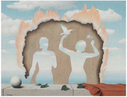 Rene Magritte, Mesdemoiselles de l'Isle Adam (1942), via Christies