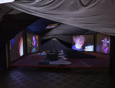 Ryan Trecartin and Lizzie Fitch, Ledge (2014), via Regen Projects