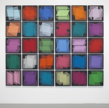 Julian Stanczak, Proportional Mixing (2011)