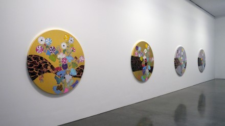 Takashi Murakami In the Land of the Dead, Stepping on the Tail of a Rainbow (Installation View), via Ellen Burke for Art Observed