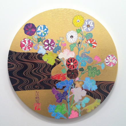 Takashi Murakami, The Golden Age: Kōrin—Kansei (2014), via Art Observed