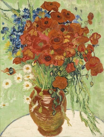 Vincent Van Gogh, Nature Morte, Vase Aux Marguerites et Coquelicots (1890), via Sotheby's