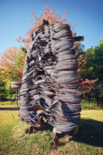 An immense Richard Prince sculpture at his Upstate Compound, via WSJ