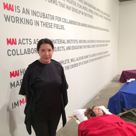 Marina Abramovic at Fondation Beyeler
