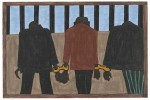 Panel 22 form Jacob Lawrence's Migration Series, via Art Newspaper