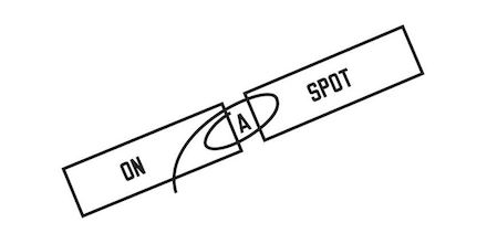Lawrence Weiner, On a Spot (2013)