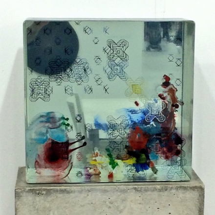 Work by Dustin Yellin at Richard Heller