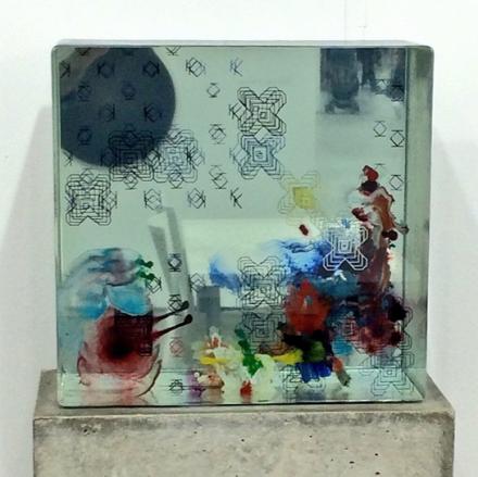Work by Dustin Yellin at Richard Heller