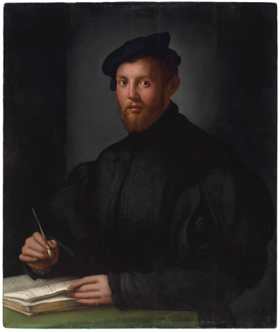 Agnolo Bronzino, Portrait Of A Young Man With A Book, Via Christie's