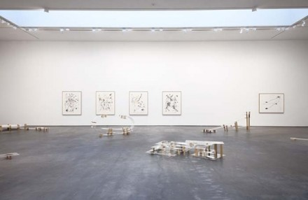 Al Taylor, Pet Stains, Puddles, and Full Gospel Neckless (Installation View), via David Zwirner