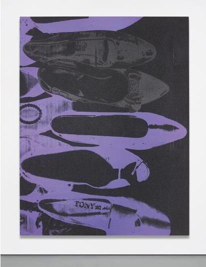 Andy Warhol, Diamond Dust Shoes (1980), via Phillips