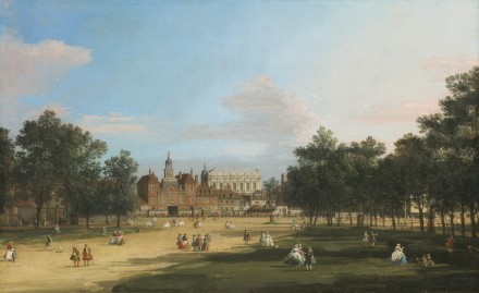 Canaletto, London, A View Of The Old Horse Guards And Banqueting Hall, Whitehall Seen From St. James' Park, Via Sotheby's
