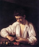 Caravaggio's Boy Peeling a Fruit (1591), via Artnet