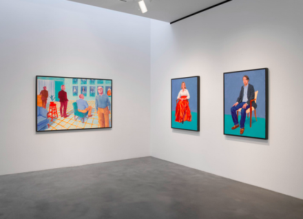 David Hockney, Some New Paintings (and Photography) (Installation View), via Pace
