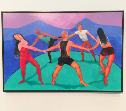 David Hockney, The Dancers IV. 14 August - 5 September 2014 (2014), via Art Observed
