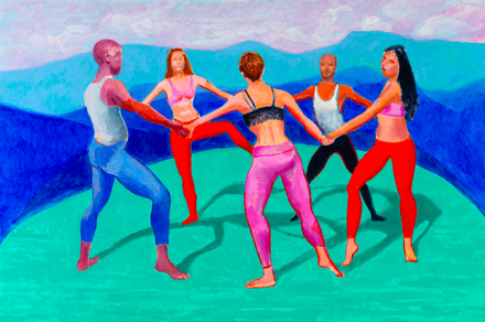 David Hockney, The Dancers V. 27 August - 4 September 2014 (2014), via Pace Gallery