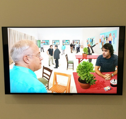 David Hockney at Pace, via Art Observed