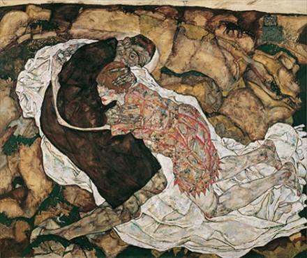 Egon Schiele, Death and Maiden (1915), via Kunsthaus Zurich