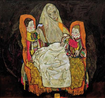 Egon Schiele, Mother and Two Children III (1915-17), via Kunsthaus Zurich