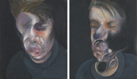 Francis Bacon, Two Studies for Self-Portrait (1977), via Sotheby's