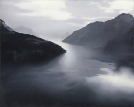 Gerhard Richter, Vierwaldstätter See (Lake Lucerne) (1969), via Christie's