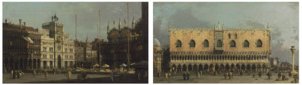 Giovanni Antonio Canal (Canaletto), The Piazza San Marco: The Northeast Corner, And The Piazzetta: Looking East, With The Ducal Palace, via Christie's