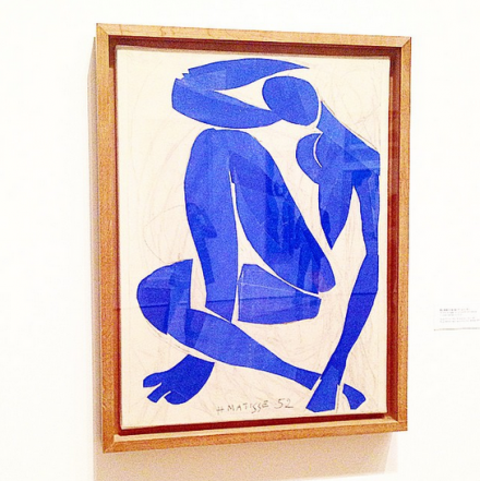 Henri Matisse, Blue Nude IV (1952), via Art Observed