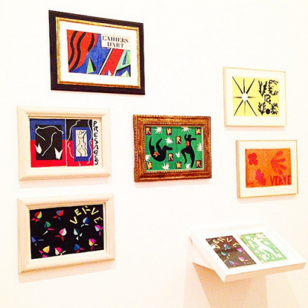 Henri Matisse, The Cut Outs (Installation View), via Art Observed