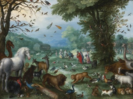Jan Brueghel The Elder, Paradise Landscape With The Animals Entering Noah's Ark, via Sotheby's
