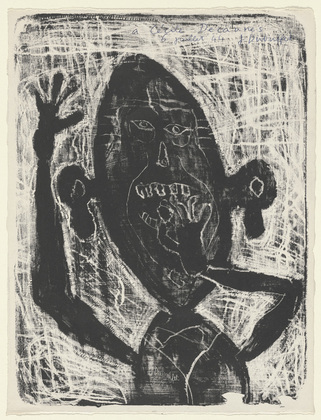 Jean Dubuffet, Man Eating a small Stone, (1944) via Museum of Modern Art