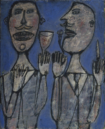 Jean Dubuffet, Snack for Two, (1945) via Museum of Modern Art