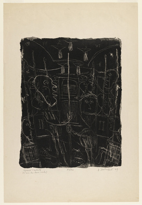 Jean Dubuffet, Subway Metro, (1949), via Museum of Modern Art