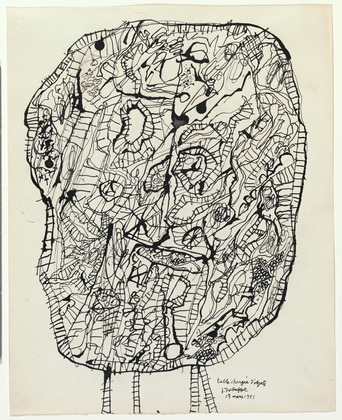Jean Dubuffet, Table Laden with Objects, (1951) via Museum of Modern Art