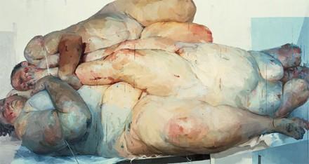 Jenny Saville, Fulcrum (1998-9), via Kunsthaus Zurich