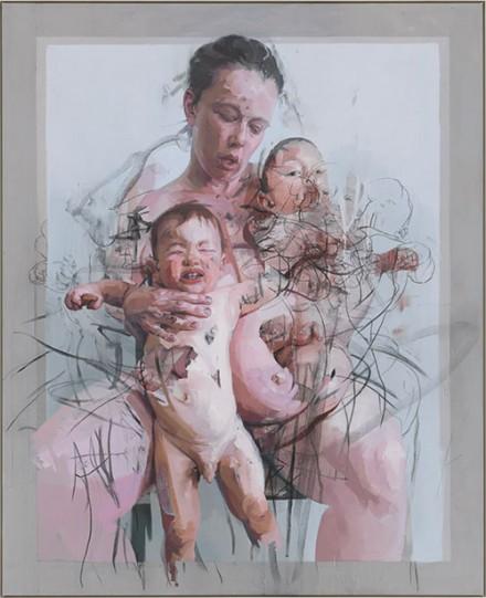 Jenny Saville, The Mothers (2011), via Kunsthaus Zurich